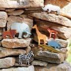 Tender Leaf Toys Wooden dinosaur - Triceratops